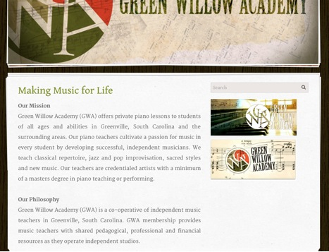 green willow academy front page