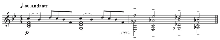 Figure 10: Andrew's counterplay melody