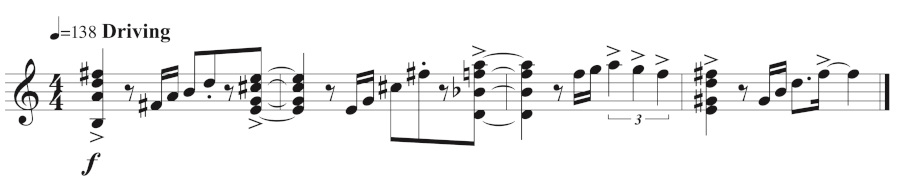 Figure 9: Andrew's opening melodic idea