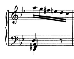 Ex.1 Bach Gm Prelude. mm. 7.