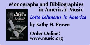 Lotte Lehmann in America - Order Online