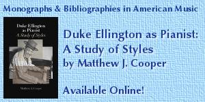 Duke Ellington as Pianist: A Study of Styles