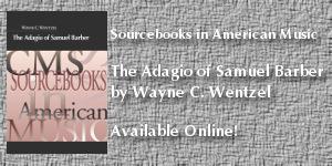 The Adagio of Samuel Barber by Wayne Wentzel